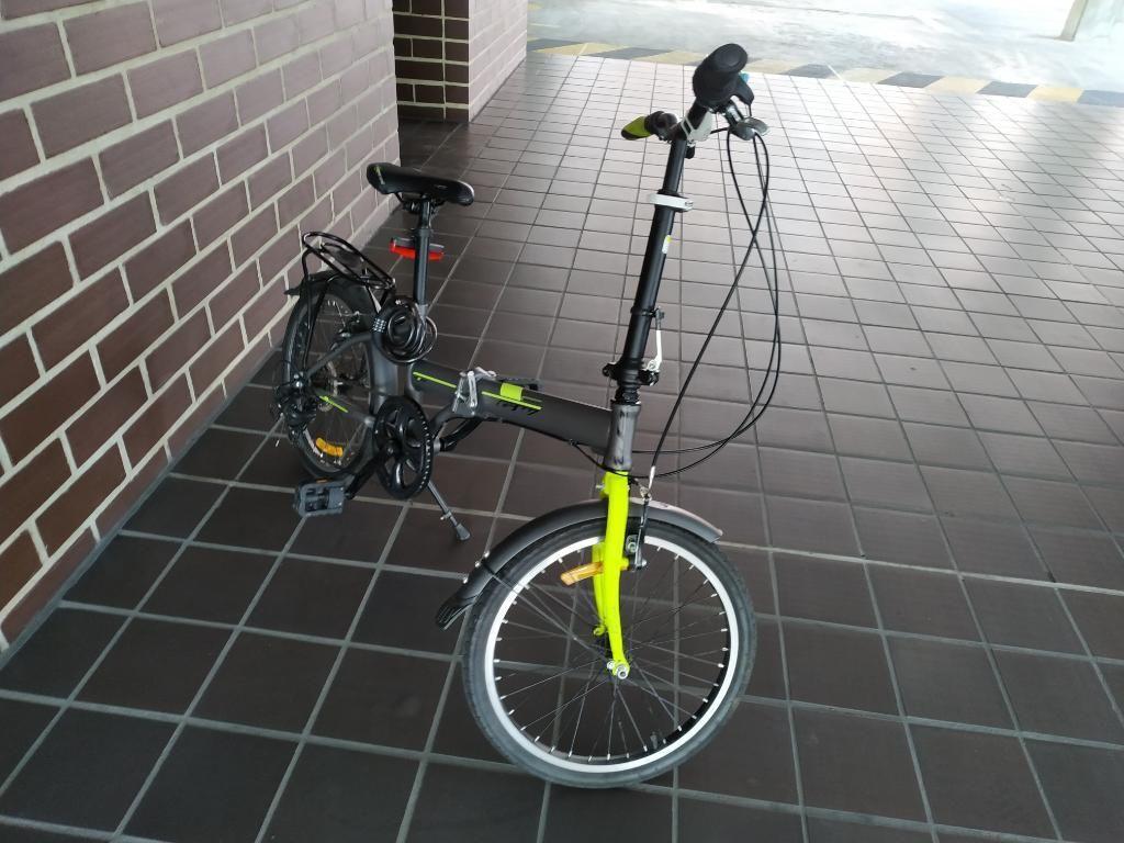 Bicicleta Gw Plegable Rin 20, 7 Vel.