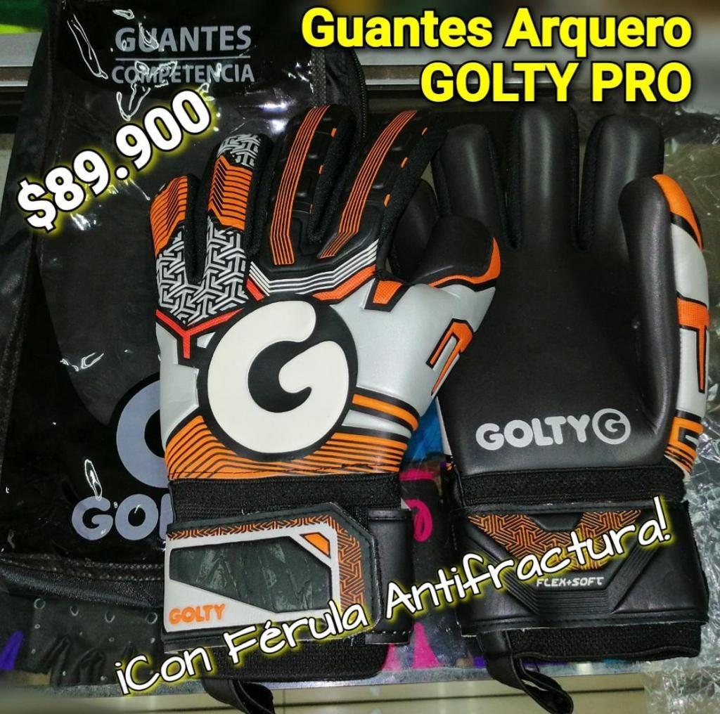 GUANTES ARQUERO PRO GOLTY ADULTO CON ANTIFRACTURA