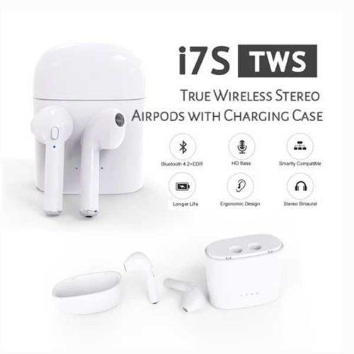 Audifono Bluetooth AirPods I7s Tws Base De Carga I7 Original