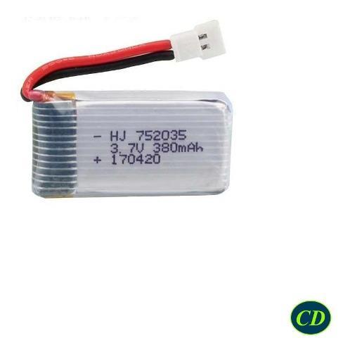 Bateria Polimero Litio 3.7v, 380mah 752035 Lipo Rc Drone 20c
