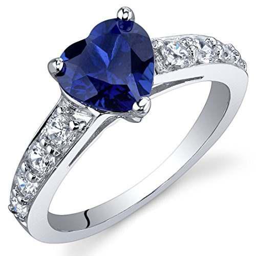 Dazzling Love 1.75 Quilates Anillo De Zafiro Azul Creado En