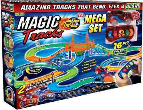 Magic Tracks Pista Rc Mega 2 Carros + Control 16pies 4.87mt