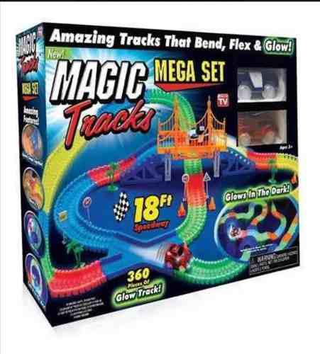 Pista Magic Tracks Set 360 Piezas + 2 Carros + Puente