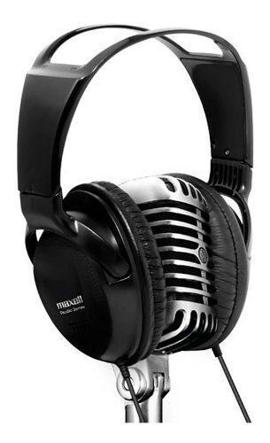 Audífono Diadema Microfono Maxell Dj Studio Manos Libres