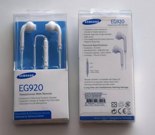 Auricular Manos Libres Samsung Orig. J6 S6 J4 Note J5 J7 J8