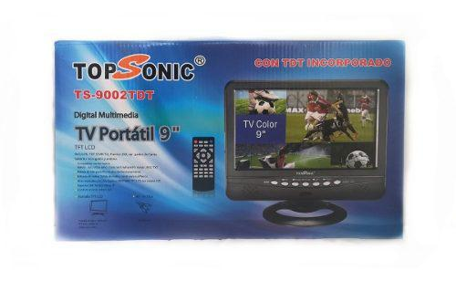 Tv Portátil Topsonic De 9 Pulgadas Con Tdt Incluido
