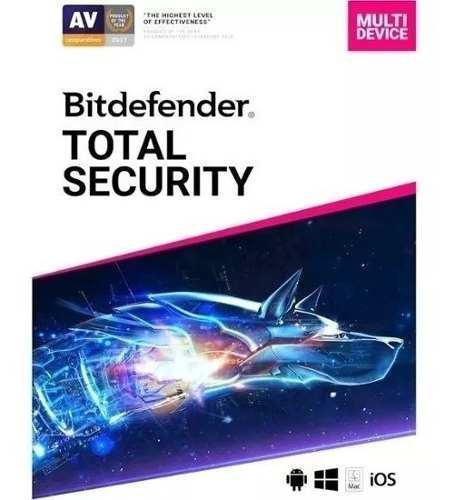 Bitdefender Total Security 2019 / 5 Dispositivos 6 Meses