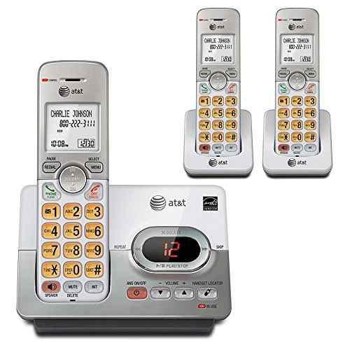 At Y T Dect 60 Telefono Inalambrico Con 3 Auriculares Digita