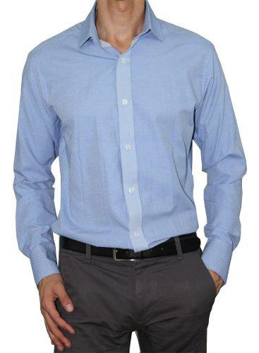 Camisa Cuello Francés Slim Fit Algodón Premium