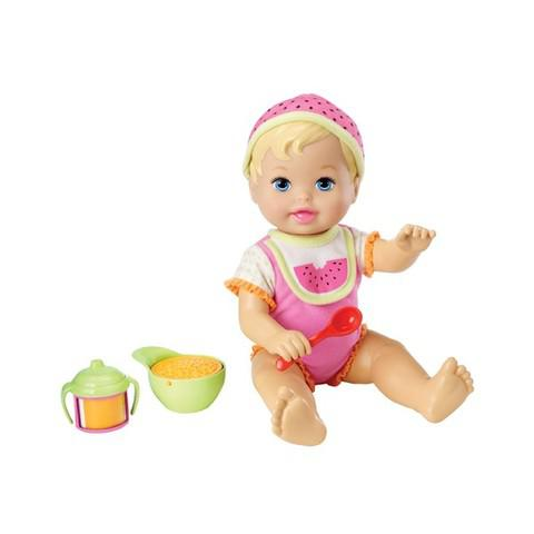 Muñeca Little Mommy Bebita A Comer Originales Mattel X4588