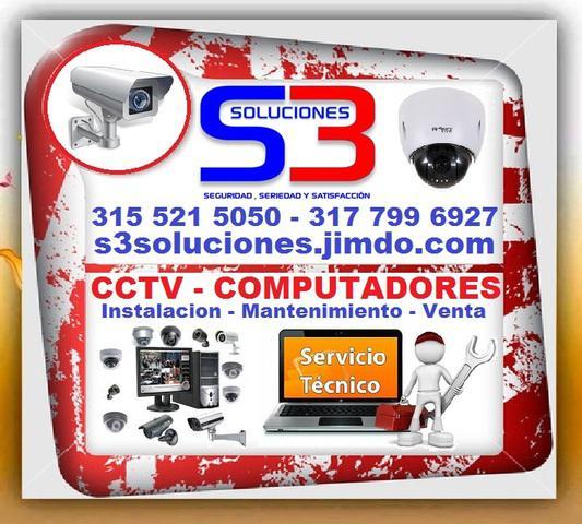 S3 SOLUCIONES, CCTV, Camaras, Computadores, Portatiles,