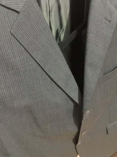 Vestido Hombre Completo Talla 38/40 Gris A Rayas Usado