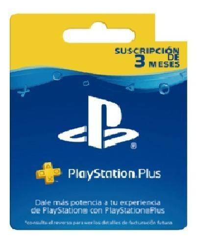 3 Meses Playstation Plus Psn Ps3 Ps4 + Juegos Plus