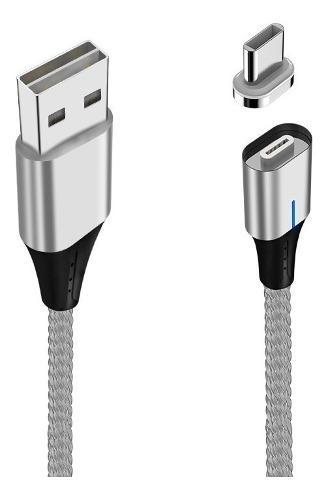 Cable Cargador Magnético Tipo C Carga Rápida 1m Usb
