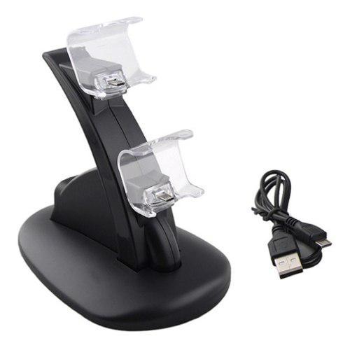 Cargador Base Carga Dual Para Controles Ps4 Pro Slim Soporte