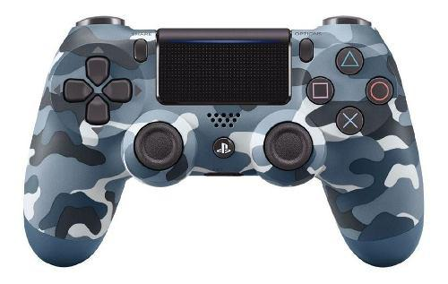 Control Ps4 Dualshock 4 Camuflado Azul +grips. 2a