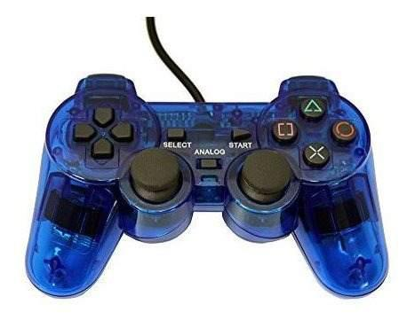 Controlador De Repuesto Con Cable Playstation 2 - Azul