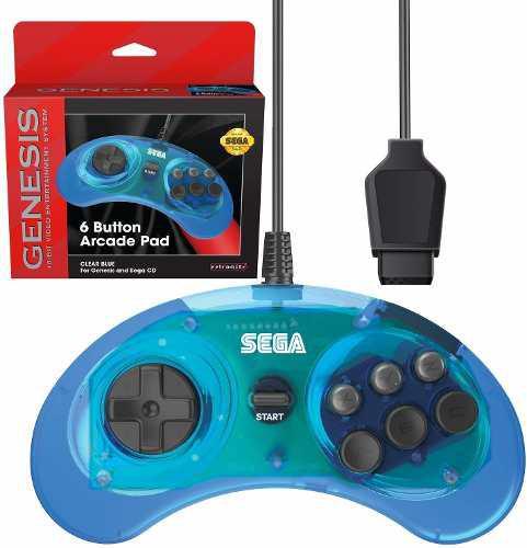 Controlador Oficial Sega Genesis Arcade Pad De 6 Botone...