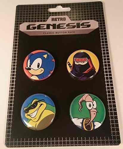 Paquete De Botones Clásicos Genesis Retro Sega