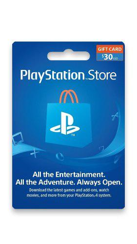 Playstation Network 30 Usd - Psn 30