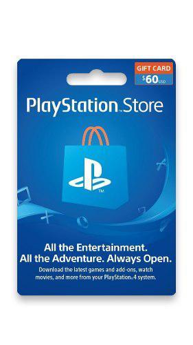 Playstation Network 60 Usd - Psn 60