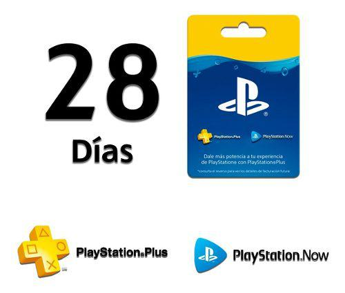 Playstation Plus 28 Días + Playstation Now 28 Días - Ps4