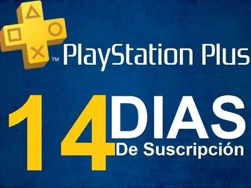 Playstation Psn Plus 14 Dias Ps4 + Play Station Now 7 Dias