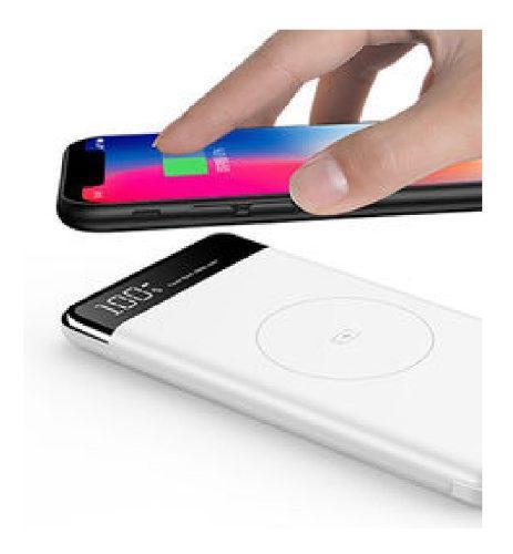 Power Bank Cargador Inalambrico Qi Celular Tablet 10000 Mah