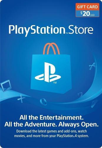 Psn 20 Usd Playstation Gift Card Usa
