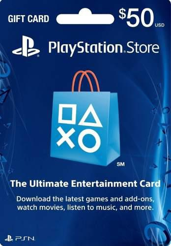 Psn Card Playstation Psn $50 Ps3 Ps4 Ps Vita