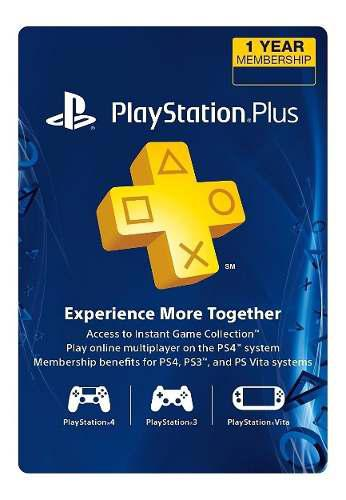 Psn Plus 12 Meses Playstation Gift Card Usa