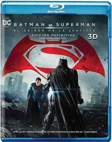 Batman Vs Superman El Origen De La Justicia Blu-ray 3d