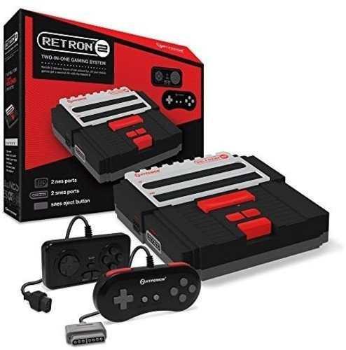 Consola De Juegos Hyperkin Retron 2 Para Snes Nes Black