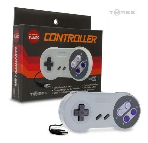 Control Usb Para Pc Y Mac Estilo Super Nintendo Snes Tomee