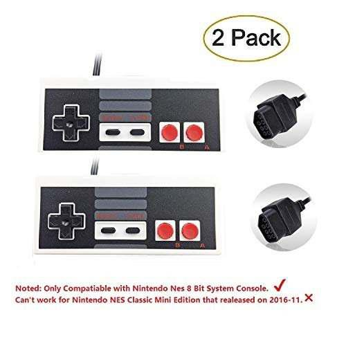 Controladores Para Consola Nintendo Nes De Eillet, Gris
