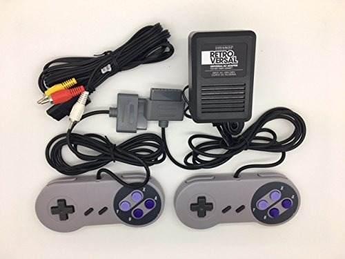 Controladores Super Nintendo Snes, Paquete De Cable Av...