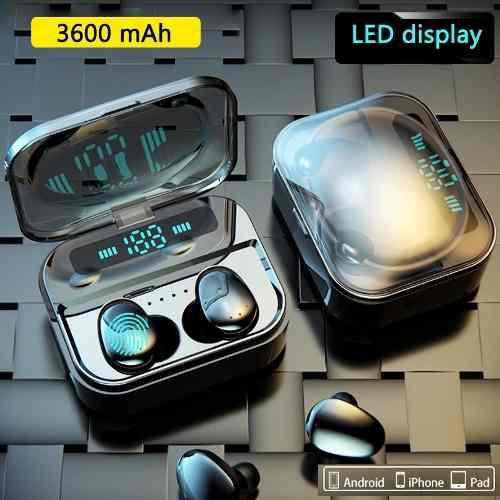 Audifonos Inalambricos Táctiles X7 Power Bank 3600 Mah