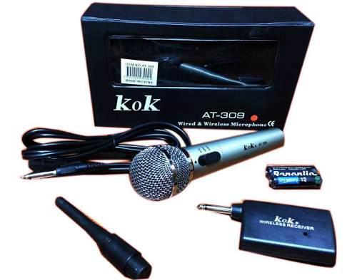 Micrófono Inalámbrico Y Cable 2 En 1 Profesional Alta