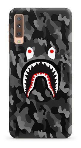 Case - Bape Shark Camo Negro - Carcasas Para Celular - Phone