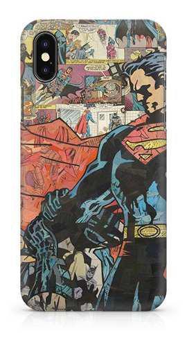 Case - Superman Vs Batman Comic Collage