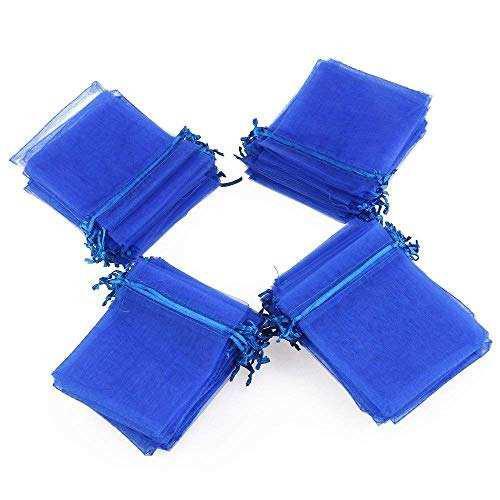 Chosky 100 Piezas Mini Bolsas De Cordón De Organza Joyas Or