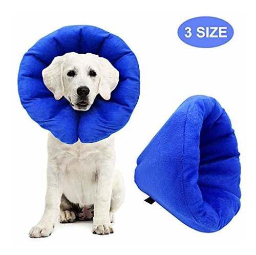 Collar Inflable Para Mascotas Ak Kyc Para Perros Cono D...
