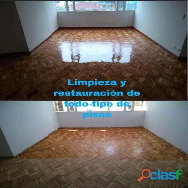 limpieza de muebles y pulido de pisos