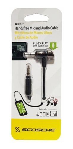 Micrófono De Manos Libres Y Cable De Audio