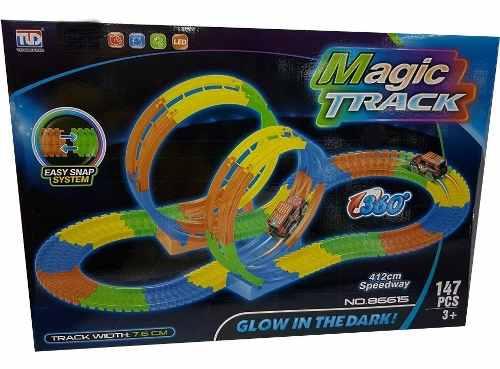 Pista Magic Tracks Flexible Brilla Giros 360 4.12mts
