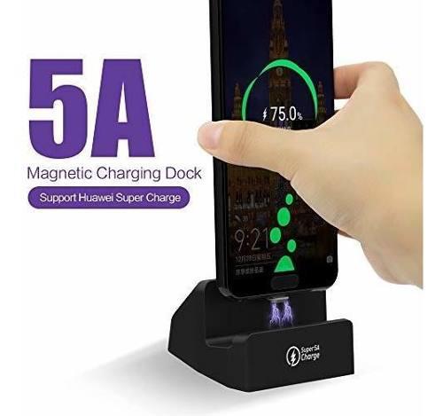 Sikai 5a Sobrecarga Usb C Magnetico Cargador De Escritorio S