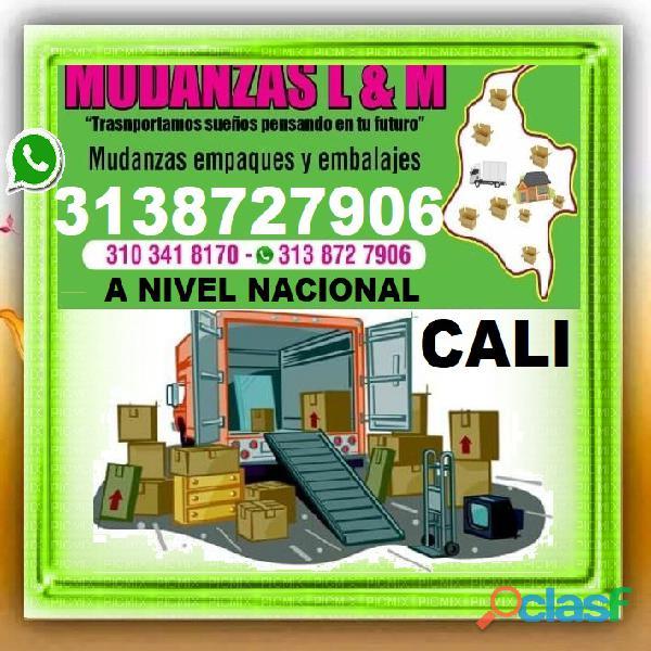 ⭐ MUDANZAS CALI, TRASTEOS, A Nivel Nacional, Empaque,