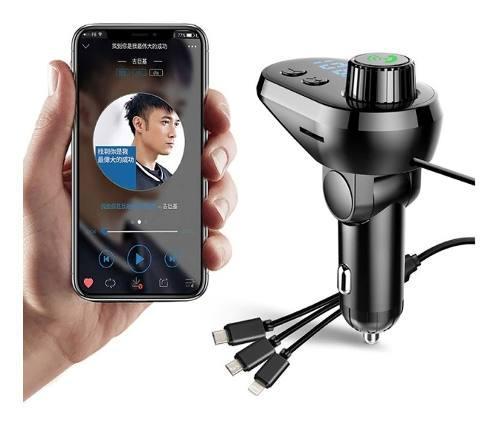 Transmisor Fm Modulador De Carro Bluetooth, Usb Micro+ Obs