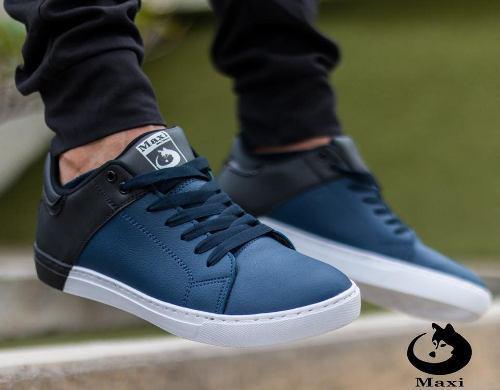 Zapatos Bicolor Azul Deportivos Originales Maxi®