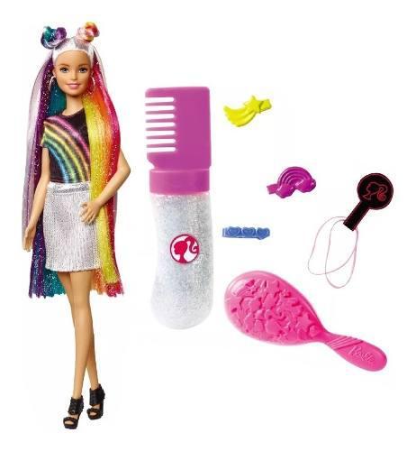Barbie Peinado Arcoiris Con Accesorios Mattel Fxn96